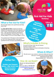 Image of First Aid For Kids Factsheet by First Aid For You
