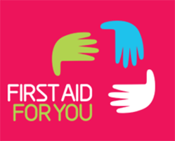 First Aid For You logo on pink