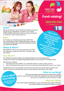 Image of First Aid For You Fundraising Fact Sheet
