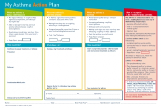 My Asthma Action Plan by Australian Department of Health and Ageing