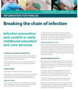 Image of Breaking the chain of infection article by Australian National Health and Medical Research Council