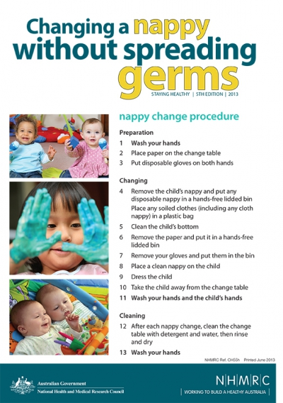 Nappy Change Procedure by Australian National Health and Medical Research Council