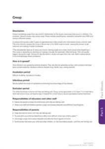 Croup information fact sheet by The Royal Children's Hospital Melbourne