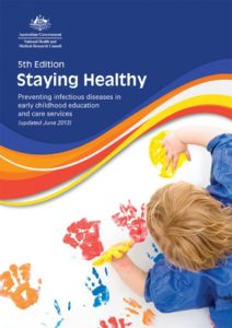 Image of cover page for 5th Edition Staying Healthy by Australian National Health and Medical Research Council 2013
