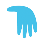 Blue hand from First Aid For You logo