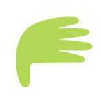 Green hand from First Aid For You logo